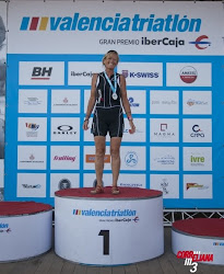 "DOMINIQUE KERLEAUX, 1ª VETERANA 2 ""SPRINT"" VALENCIA TRIATLÓN 2012"