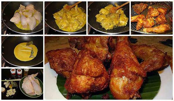 Resep Ayam Goreng Bumbu Kuning. Gurihnya Sampai Ke Tulang