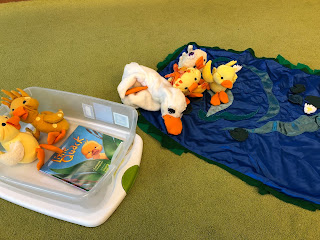 Little Quack story box with book and tactile duck manipulatives