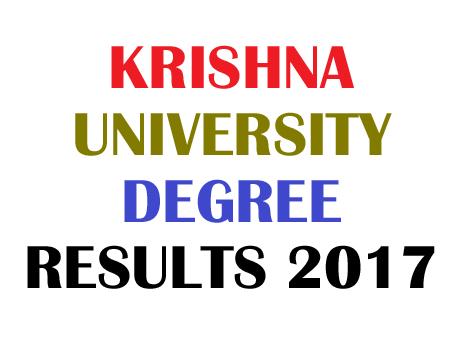 Krishna University Results 2017