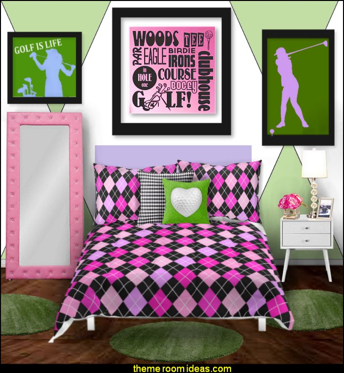 Womens Golf Themed Bedroom Decorating Golf Bedding Womens Golf Wall Decals  Sports Bedroom Decorating Ideas