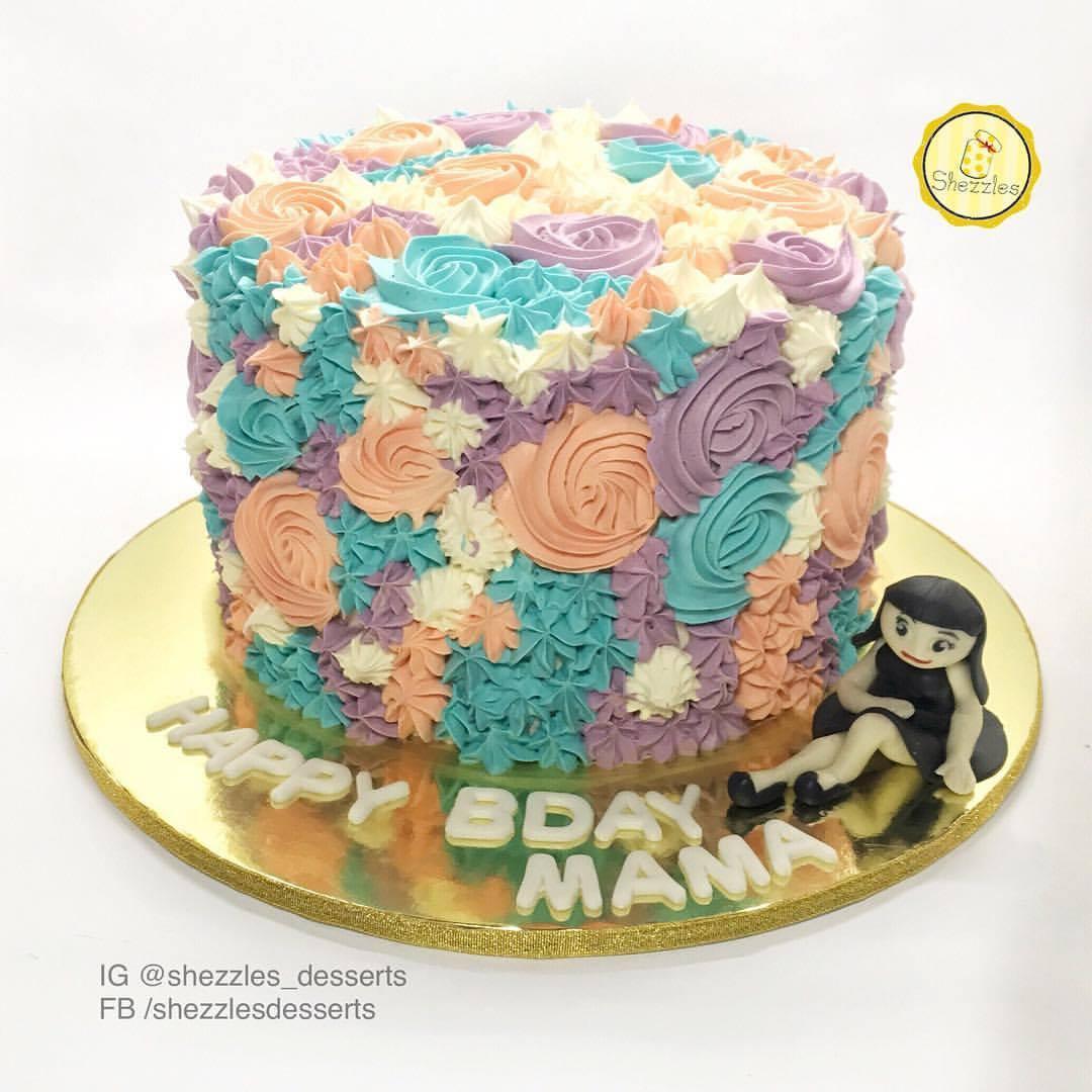 Soft Icing Birthday Cake