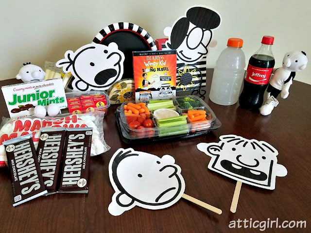 Diary of a Wimpy Kid party ideas, Diary of a Wimpy kid movie night, Wimpy Kid food