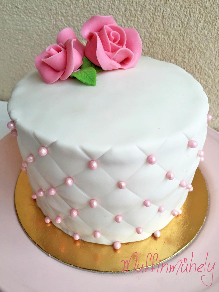 marcipán torták képek Steppelt fondantos torta marcipán rózsával marcipán torták képek