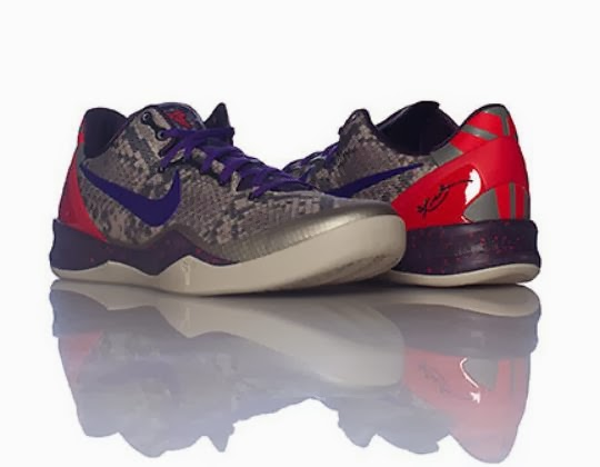 new product f72aa 9ae86 The Nike Kobe 8 VIII Mine Grey Court Purple Snakeskin Sneaker is available  now For Retail and free shipping HERE and backup links HERE and HERE.
