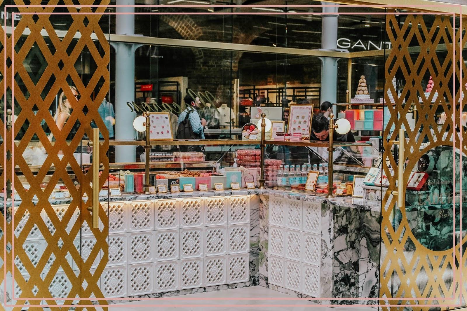 St Pancras Station Laduree Macaron Shop