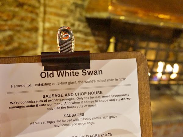 Dining out at The Old White Swan & Giveaway