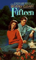 Fifteen cover with teen girl and boy in painted illustration, looking super worried as if the girl might be pregnant