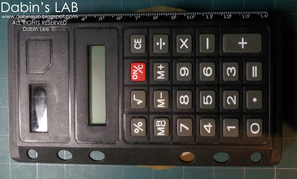 Calculator with a Fake Solar Panel | Dabin's Lab