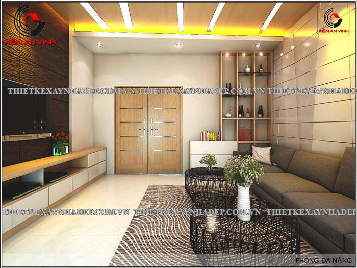 Mẫu thiết kế nhà ống 2 tầng diện tích 4x14 ở quê gia đình chị Lan Phong-khach4