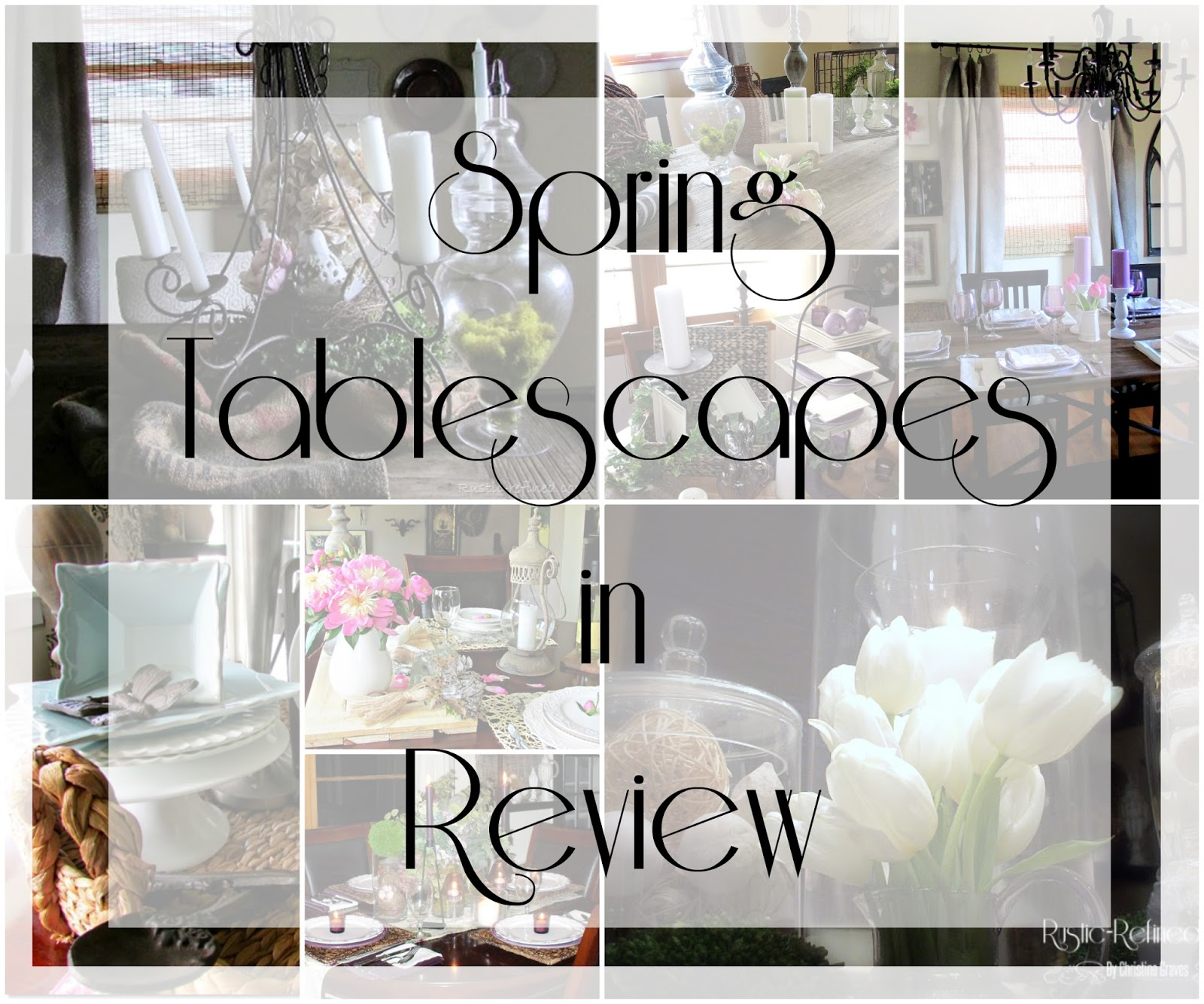 spring tablescapes in review - 15 different table ideas - rustic
