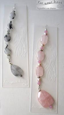 segnalibri incisi pietre dure quarzo rosa