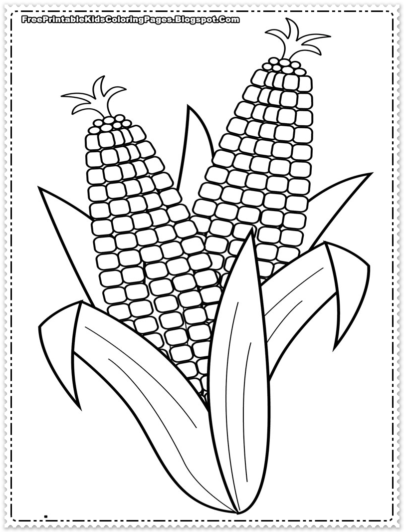 corn stalk template corn coloring pages printable free printable kids