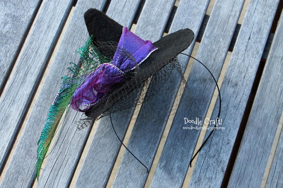 dc52e3f348d Doodlecraft  Halloween Mini Witch Hat Headband!