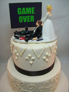 PS4 Game Over Wedding Cake Toppers