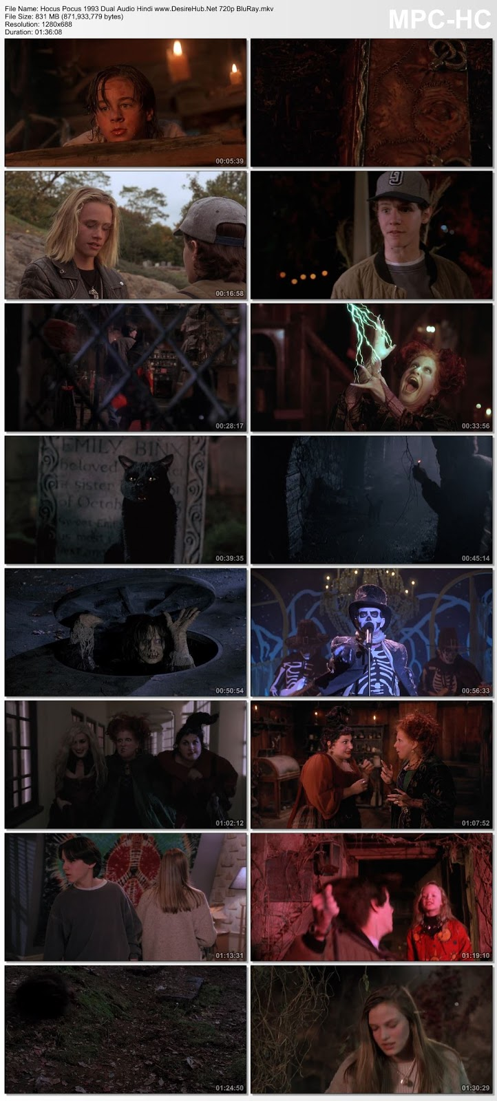 Hocus Pocus (1993) Dual Audio Hindi 480p BluRay 300MB Desirehub