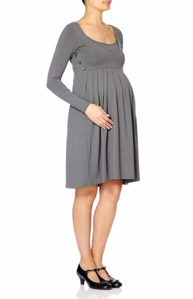 Bibee Original Grey Knee-Length Dress