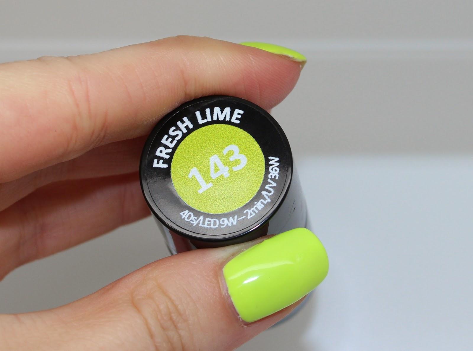 Lakier Hybrydowy Semilac 143 Fresh Lime Hola Paola