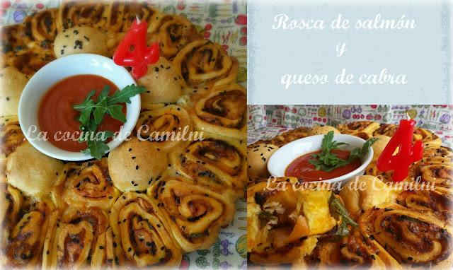 Rosca de salmón y queso de cabra (La cocina de Camilni)