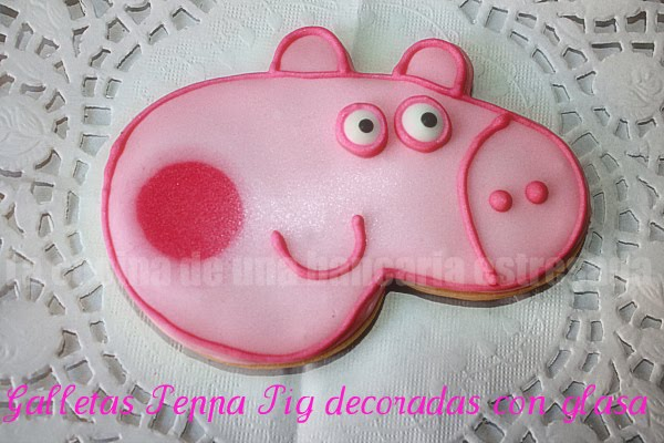 GALLETAS PEPPA PIG DECORADAS CON GLASA