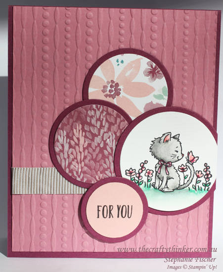Stampin Up, #thecraftythinker, Pretty Kitty, #crazycraftersbloghop, Stampin Up Australia Demonstrator, Cat Card