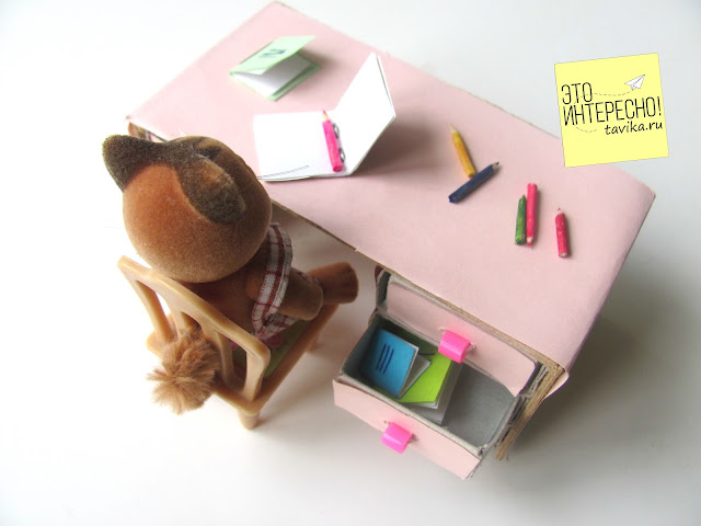 игрушечный столик  из спичечных коробков своими руками