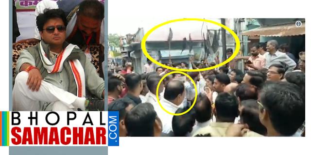 बंद कराने आए सिंधिया के प्रिय विधायक को जनता ने काले झण्डे दिखाए, VIDEO | Bharar Band MP News