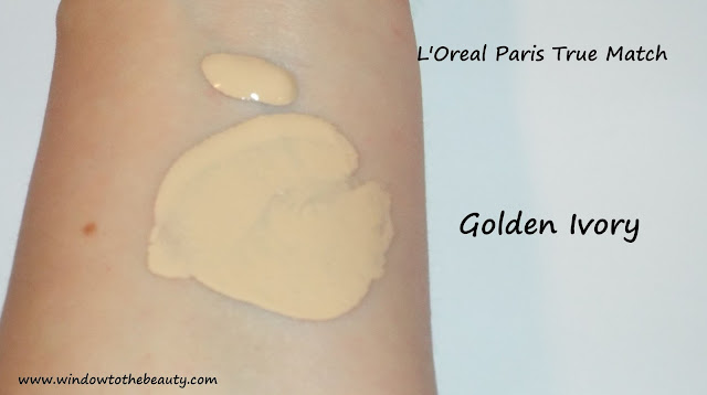 true match golden ivory swatches
