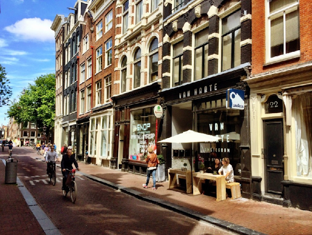 Ruas 9 Straatjes em Amsterdã em agosto