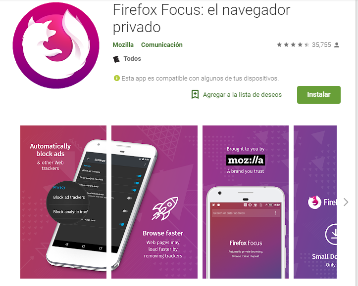 MEJORES NAVEGADORES WEB ANDROID