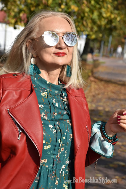 blogerka modowa 50 plus, over50 plus, blogfashion, fashionstylist, stylistka, kreator wizerunku, babooshkastyle, modna50, Orsay, Bonprix, Dune London, Ryłko, ramoneska, leather jacket