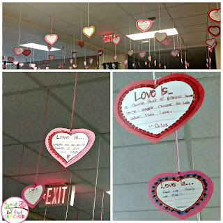 Are you hung up on Valentine's Day?  Check out this fun activity that allows students to express what love is and share it.
