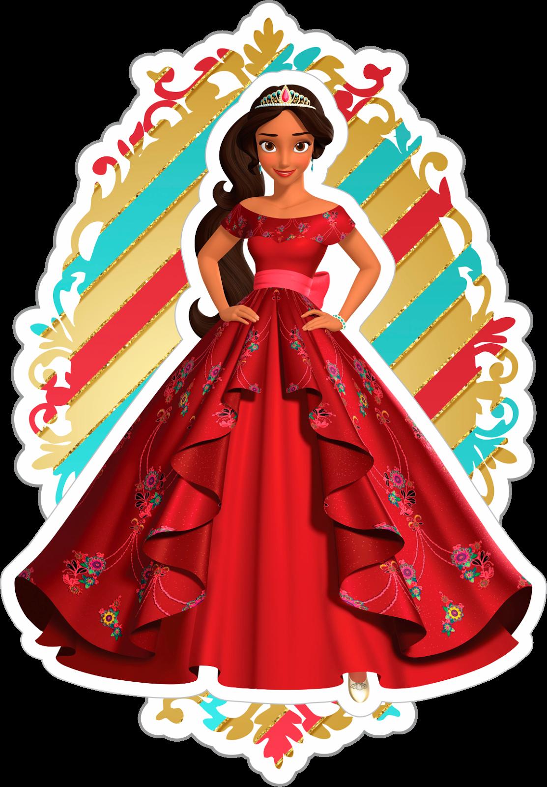 Artes E Personalizados Topo De Bolo Princesa Elena