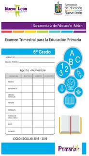 6to grado Examen Trimestral Primer Trimestre Primaria
