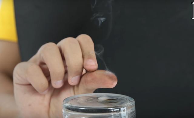 experimento, cerillas, fosforos, humo