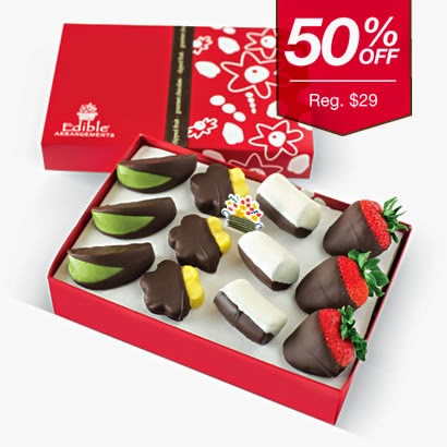 Grab this delicious offer from Edible Arrangements for 50% Off dipped fruit boxes thru 9/20/14!