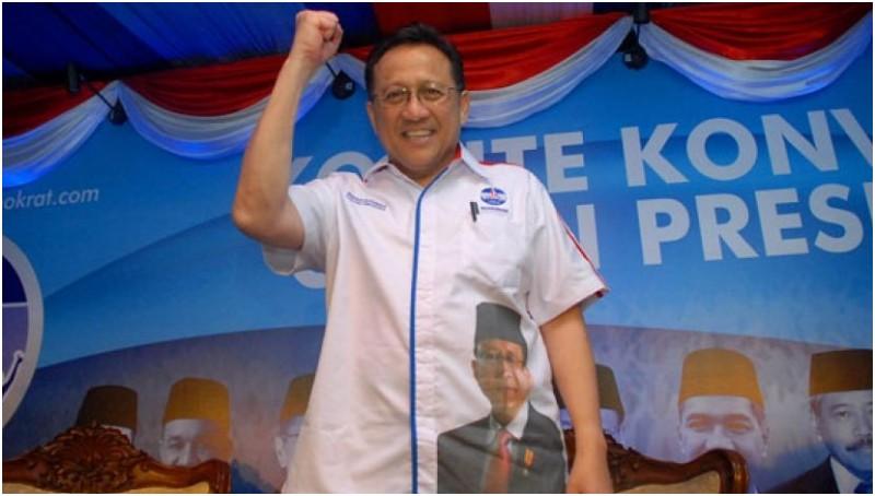 Irman Gusman saat mengikuti konvensi Partai Demokrat