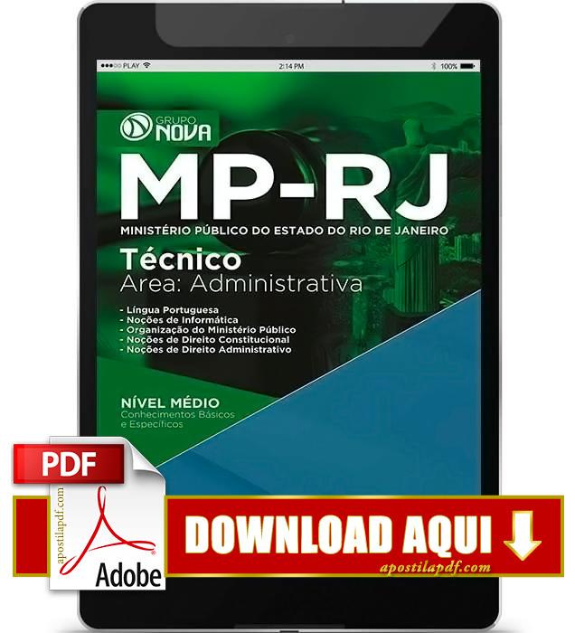 Apostila MP RJ 2016 Técnico Administrativo PDF Download