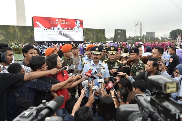 Panglima TNI : Apel Bersama Menunjukkan Kesamaan Gender di Institusi TNI-Polri