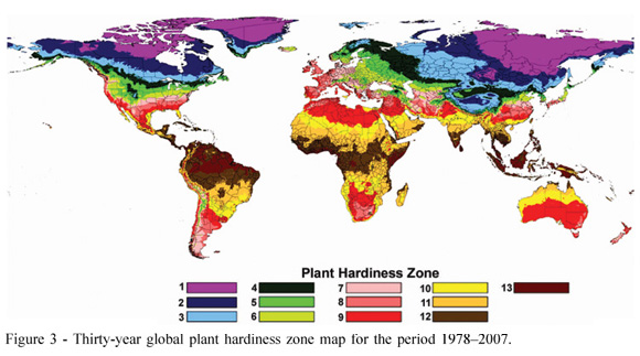 Plant Hardiness Zones Maps For The World