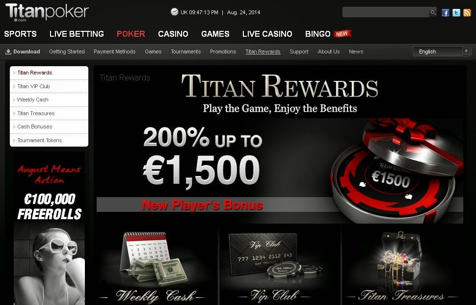 Titan Poker Screen