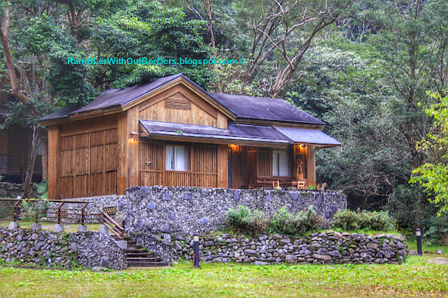 Log cabin, Leader Village, Taroko National Park, Taiwan