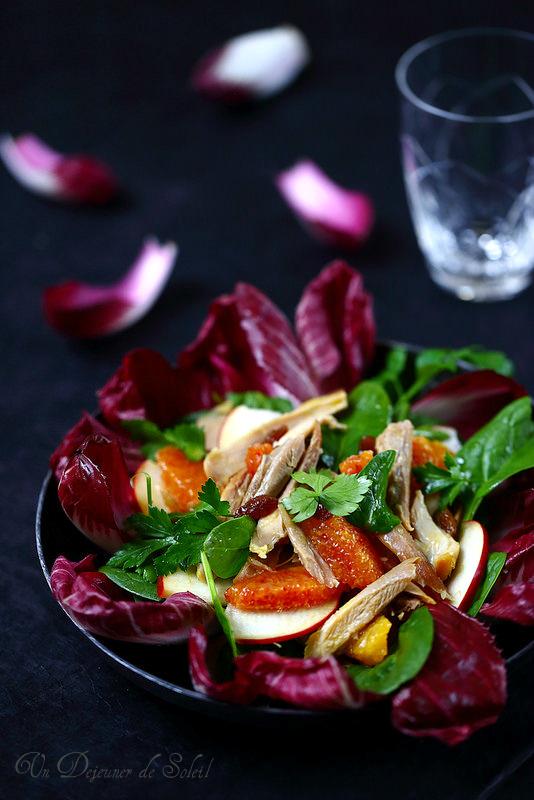 Salade gourmande de poulet rôti