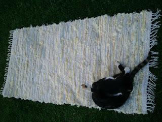 tapete de tecelagem manual com lã de ovelha e algodão