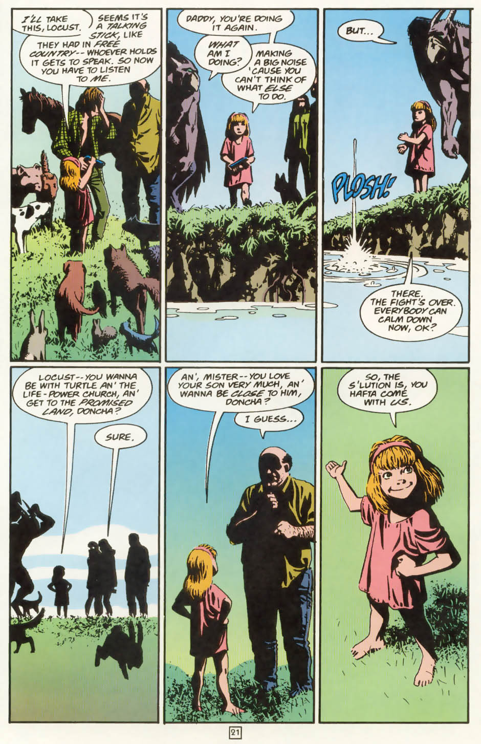 Read online Animal Man (1988) comic -  Issue #77 - 22
