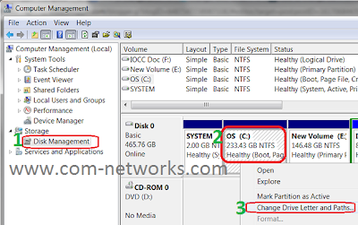 Change Drive Letter In Windows 7