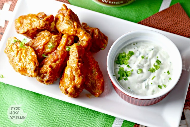 Ad: Cool Cucumber Ranch Dip and Deli Wings:  a perfect combination! #GameTimeHero #CollectiveBias #ad