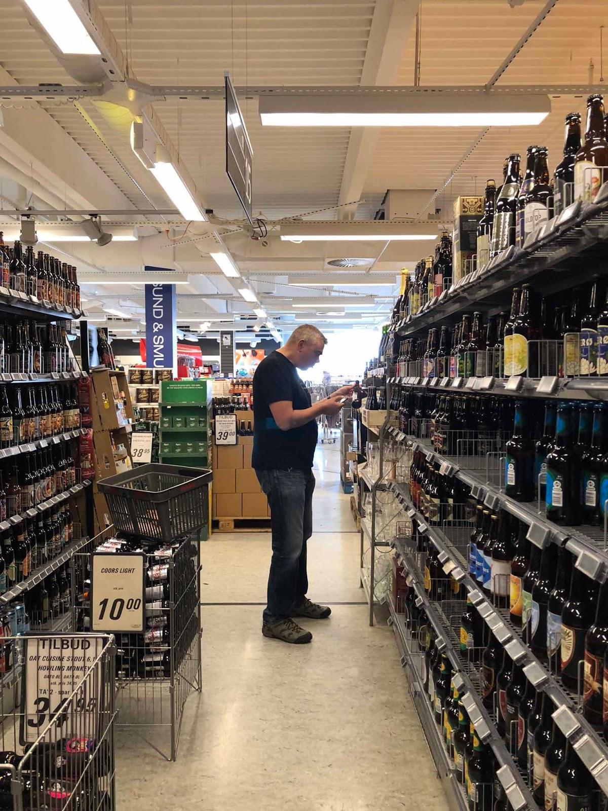 Middelfart Kvickly olut valikoima