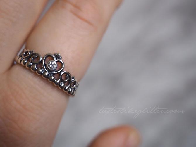 Pandora Princess Tiara Ring.   tastes like glitter