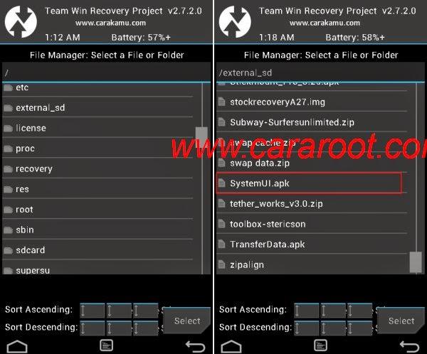 Gambar Cara Menggunakan File Manager di TWRP 1